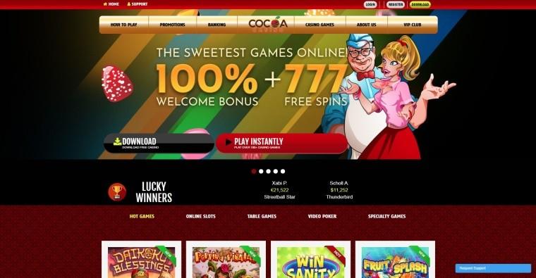 AzartGambler Cocoa Casino Home page