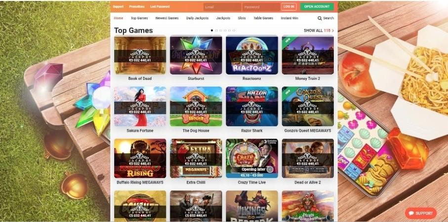 AzartGambler LeoVegas Top Games