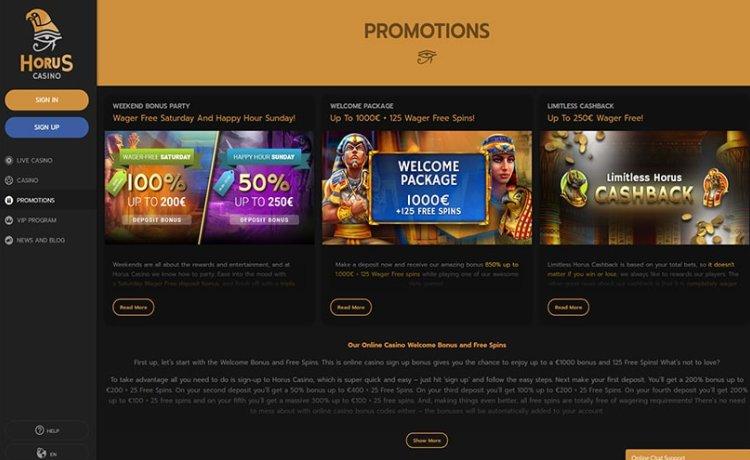 AzartGambler Horus Casino 2
