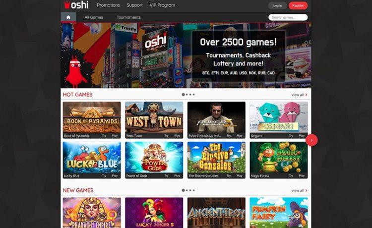 AzartGambler Oshi casino lobby