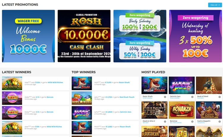 AzartGambler Wolfy Casino Bonuses