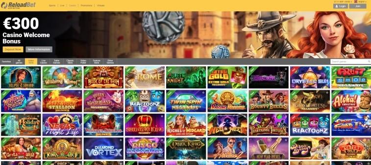 AzartGambler ReloadBet Casino Home page