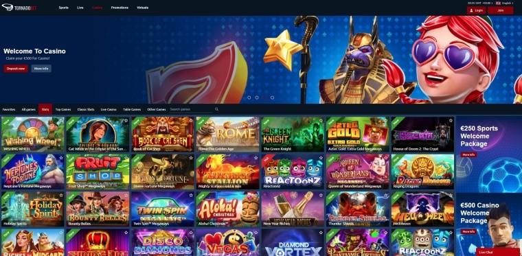 AzartGambler TornadoBet Casino Home page