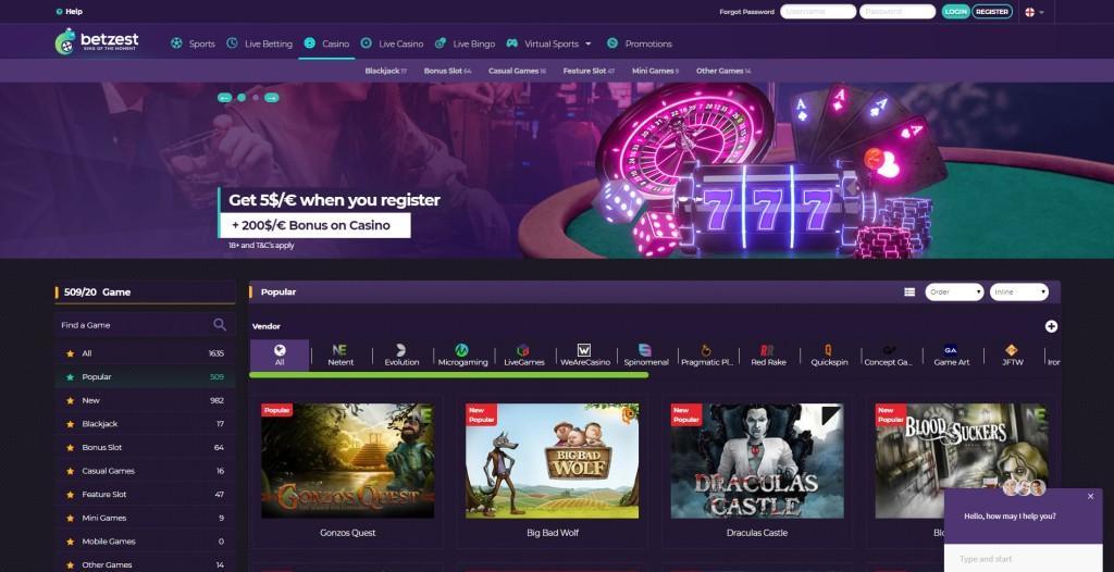 Azartgambler Betzest casino review