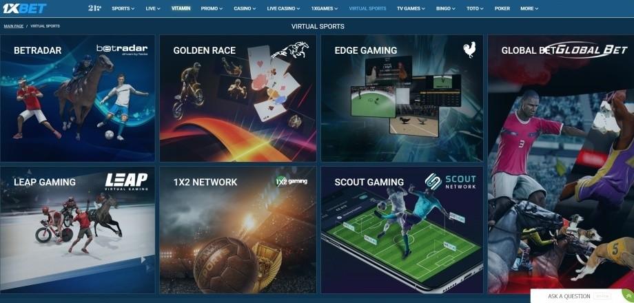 Azartgambler 1Xbet Virtual sports
