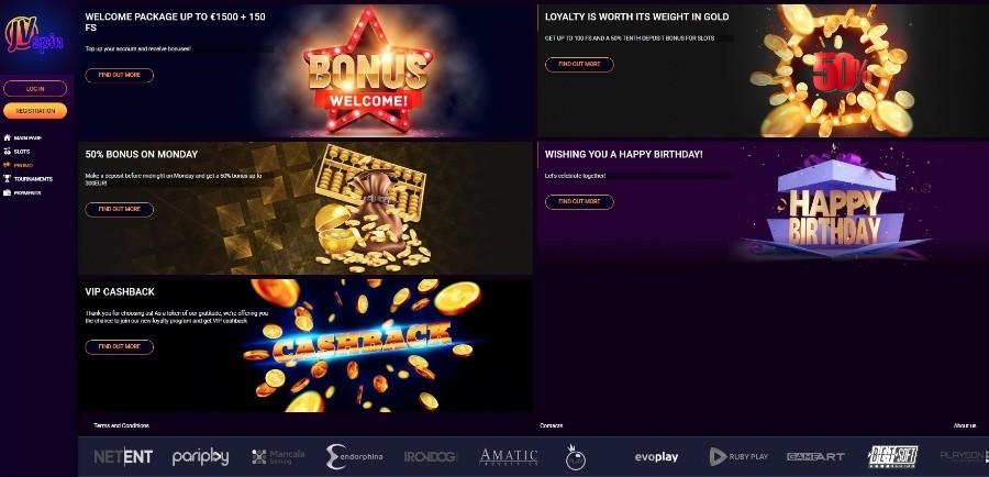 Azartgambler JVSpin casino promotions