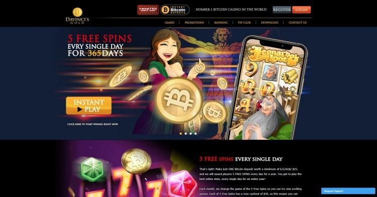 AzartGambler Da Vinci Gold Casino Bonus