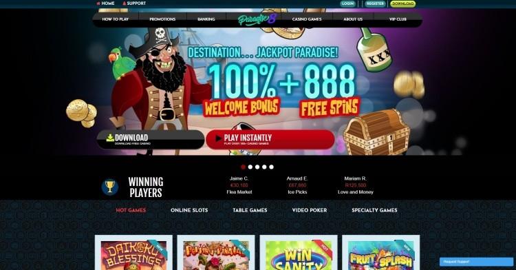 AzartGambler Paradise 8 Casino Home Page
