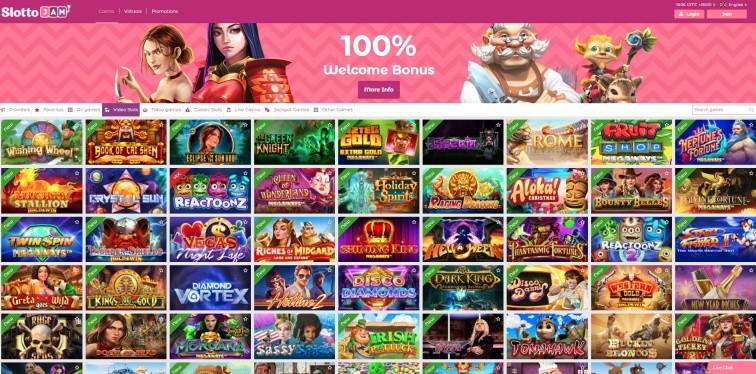 AzartGambler Slotto Jam Casino Home page